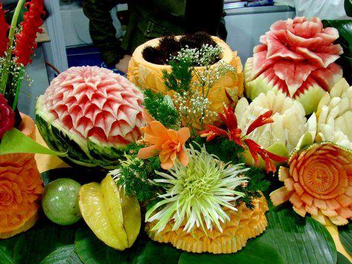 Meyve ve Sebzelerden sanat