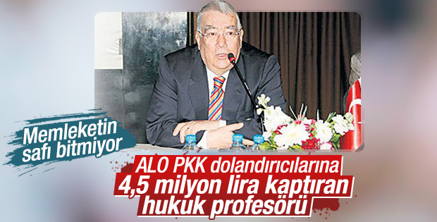 Hukuk profesörü dolandırıcılara 4.5 milyon kaptırdı